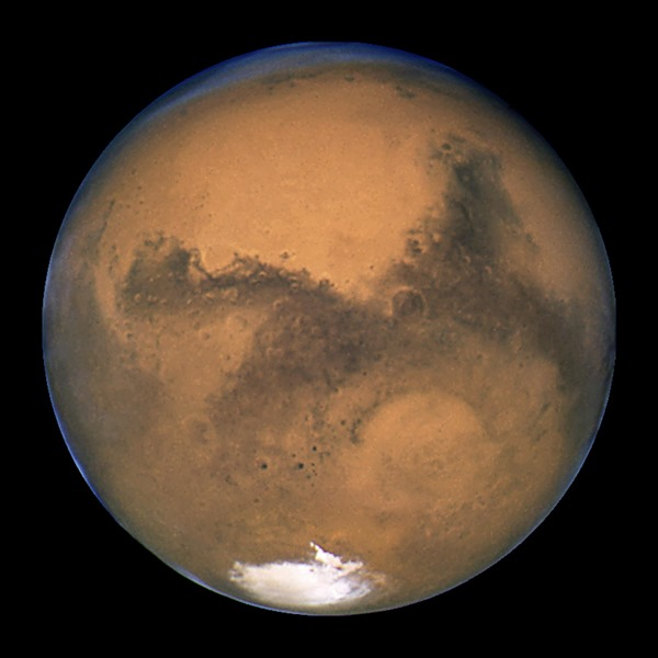 Photo take of Mars in 2003 by Hubble